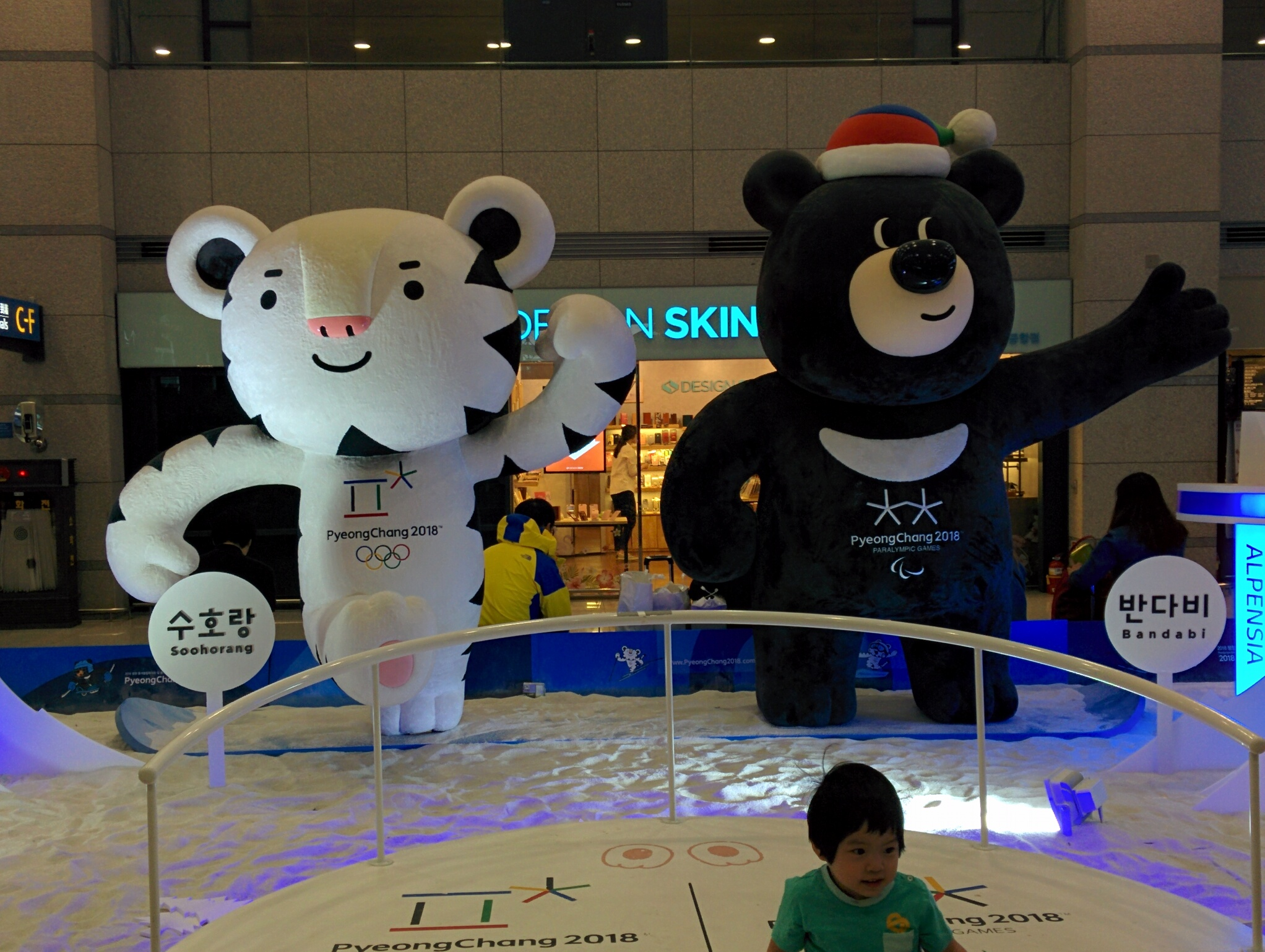 Les mascottes des JO 2018