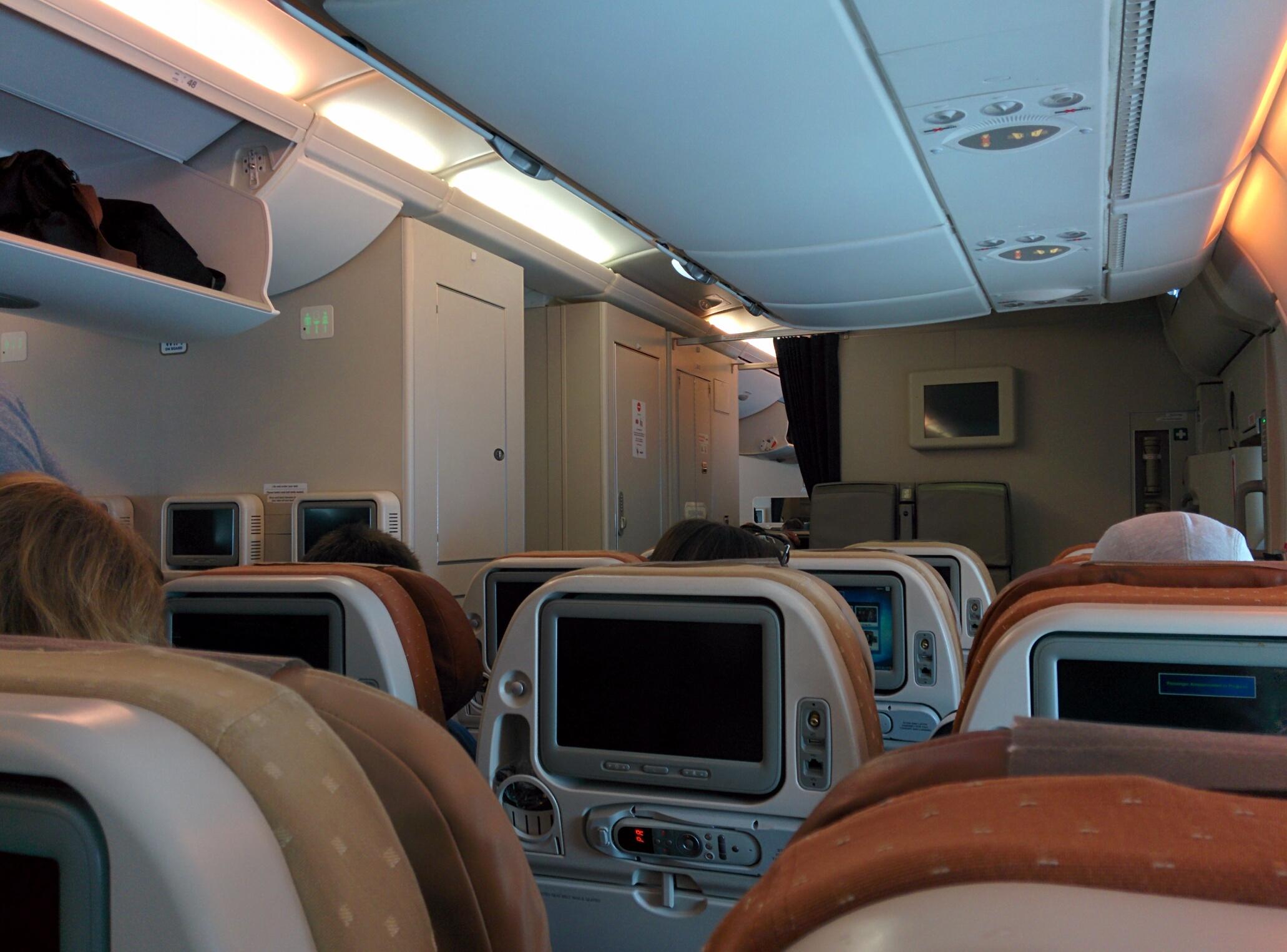 Intérieur de l'avion
